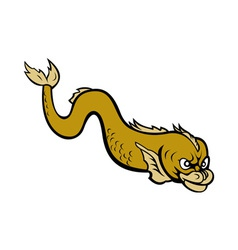 Old world style monster fish or eel vector