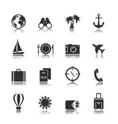 Tourism travel interface elements vector
