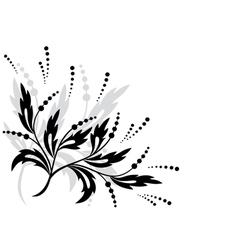 Black floral element for design vector