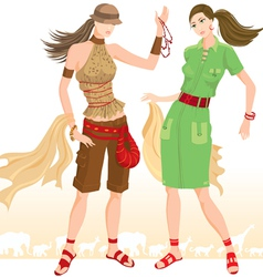 Summer fashion models vector