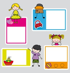 Children picture frame for girl and boy vector