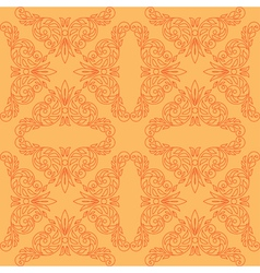 Orange seamless pattern with red decor vector