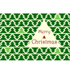 Christmas card with pine pattern vector