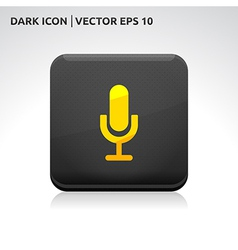 Microphone icon gold vector