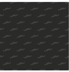 Tile dark mustache pattern or seamless background vector