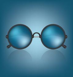 Retro blue sunglasses vector