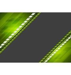 Abstract tech corporate green black background vector