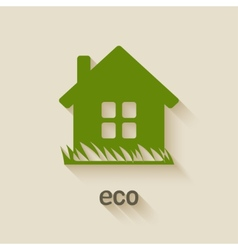Green house eco symbol vector