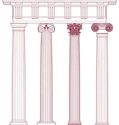 Classic columns vector