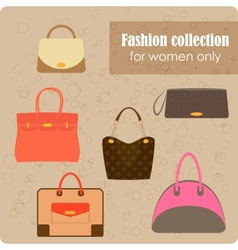 Womens fashion collection of bags vector