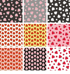 Strawberries patterns vector