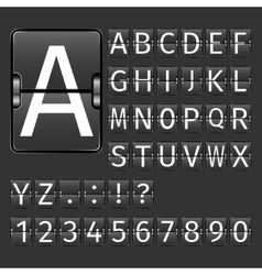 Airport board alphabet vector