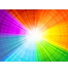Rainbow sunbeam background vector
