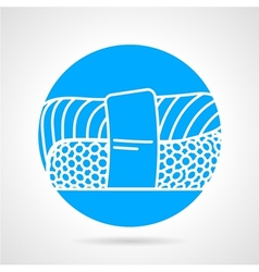 Sushi round icon vector