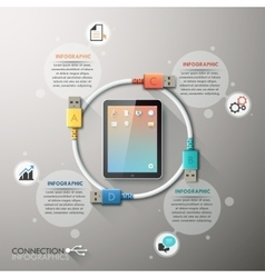 Business connection infographics template vector