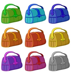 Leather bag set vector