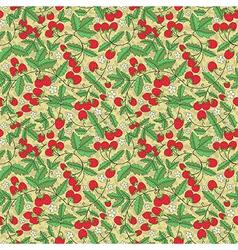 Seamless texture of juicy strawberries vector