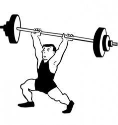 Weight lifter vector
