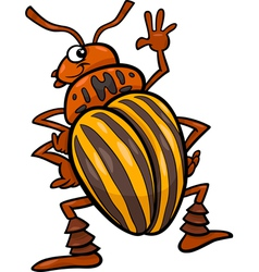 Potato beetle insect cartoon vector