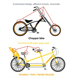 Bicycle types set iii vector