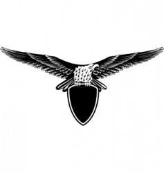 Eagle with straightened wings vector