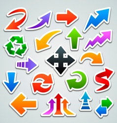 Arrow stickers vector