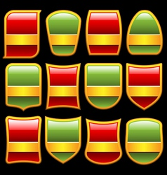 Various shape badges set vector