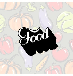 Handwritten food retro label vector