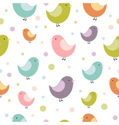 Birdies seamless vector