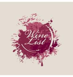 Wine list 007 vector