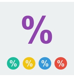 Percent flat circle icon vector