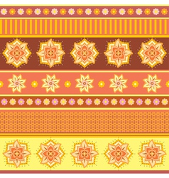 Bright ethnic ornament vector