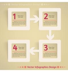 Flat infographics design background vector