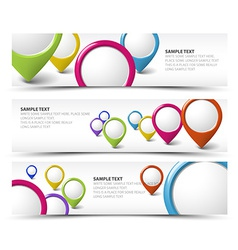 Set of map locator horizontal banners vector