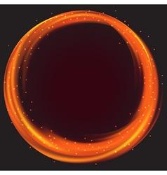 Fire circle frame vector