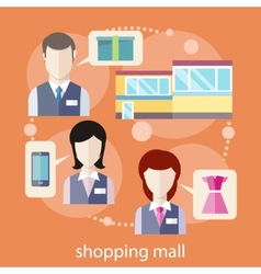 Shopping mall concept vector