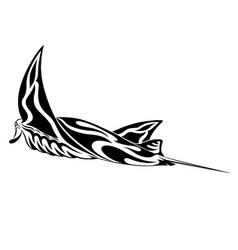 Manta ray tribal tattoo vector