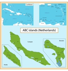 Abc islands vector