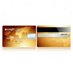 Card credit design vector