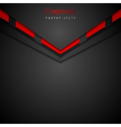 Dark modern corporate arrow design vector