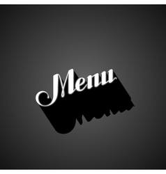 Handwritten menu retro label vector