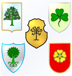 Heraldic elements - trees and vector