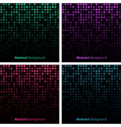 Set of abstract technology backgrounds vector