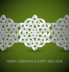 White paper christmas snowflakes vector