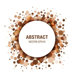 Brown - coffee abstract circle frame vector
