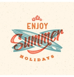 Retro style summer card emblem or a logo vector