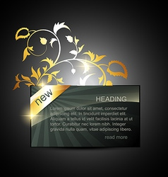 Golden display box vector