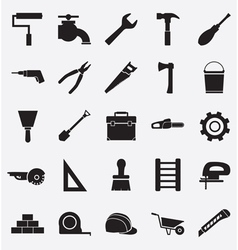 Set of construction tools icons vector