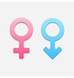 Mars and venus symbols vector