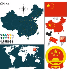 China map world vector